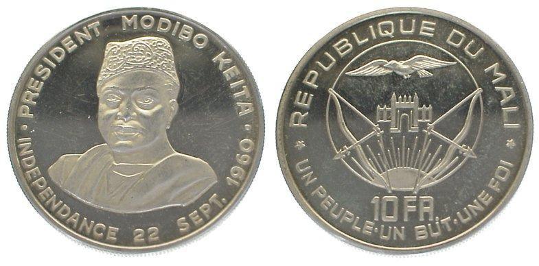 Republik seit 1960 Mali 10 Francs