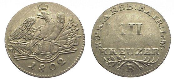 Friedrich Wilhelm Iii 1797-1840 Brandenburg-preußen 3 Kreuzer 1802 B