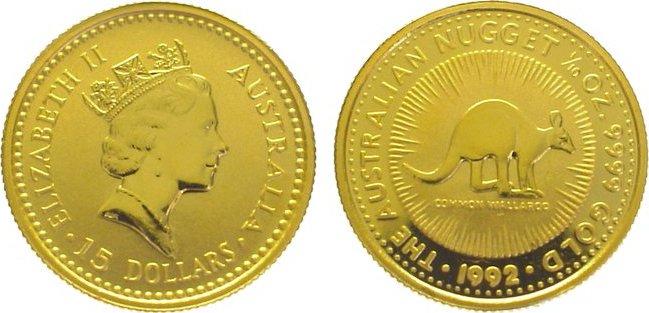 Elizabeth Ii seit 1952 Australien 15 Dollars Gold 1992