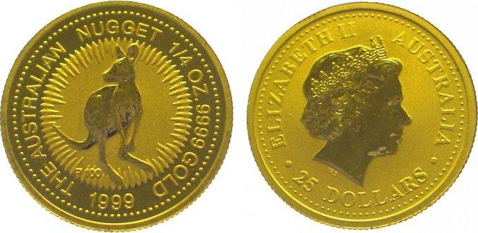 Elizabeth Ii seit 1952 Australien 25 Dollars Gold 1999