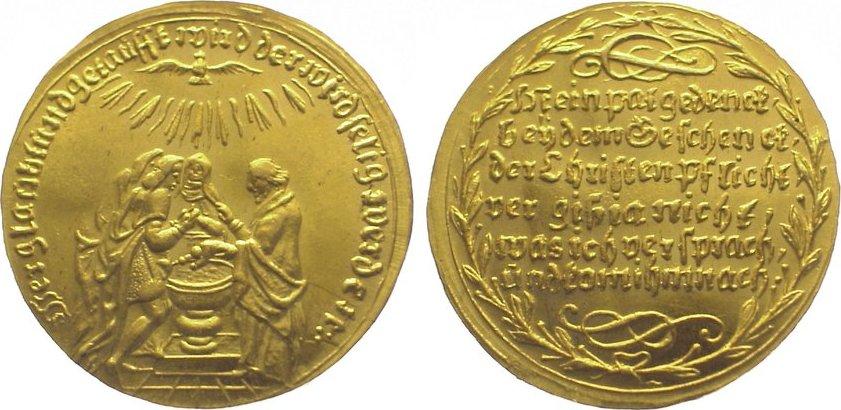 Gelegenheitsmedaillen Goldmedaille zu 3 Dukaten Gold