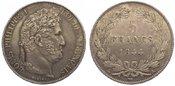 5 Francs 1844  A Frankreich Louis Philipp ...