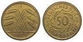 Weimarer Republik 50 Pfennig 1925 E Pracht...