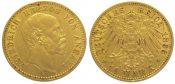 10 Mark  Gold 1896 A Anhalt Friedrich I. 1...