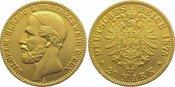 20 Mark  Gold 1875 A Braunschweig Wilhelm ...