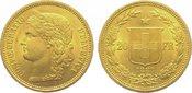 20 Franken Gold 1883 Schweiz-Eidgenossensc...