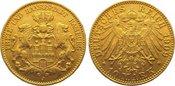 10 Mark Gold 1909  J Hamburg  Sehr schön -...