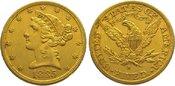 5 Dollars Gold 1885  S Vereinigte Staaten ...
