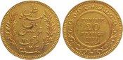 20 Francs Gold 1899 A (AH  Tunesien Franzö...