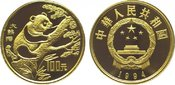 100 Yuan Gold 1994 China Republik. Poliert...