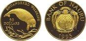 50 Dollars Gold 1995 Nauru  Polierte Platte