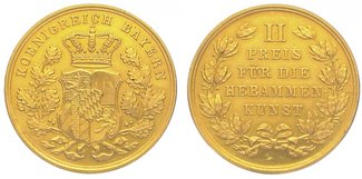 Gold 1848-1864 Bayern Maximilian II. Josep...