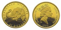 Cook Islands 25 Dollars  Gold Elizabeth II. seit 1952.