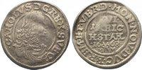 Bremen und Verden 1/16 Taler Karl XI. von Schweden 1660-1697.
