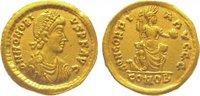 Gold  395-423 n. Chr. Kaiserzeit Honorius ...