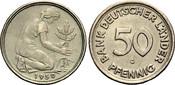 50 Pfennig 1950 G BANK DEUTSCHER LÄNDER  S...