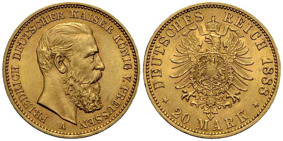 Preussen 20 Mark 1888