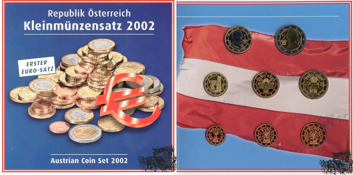 Kms 2002 Österreich 3,88 Euro Bimetall