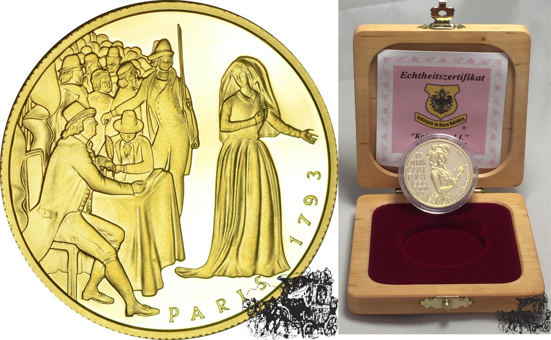 1000 Schilling 1997 Maria Antoinette Österreich Gold