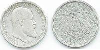 2 Mark 1892 F Württemberg Wilhelm II. 1891/1918 sehr schön  35,00 EUR