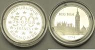 500 Francs 1994 Frankreich Bedeutende Bauwerke in Europa (Big Ben) pp o... 950,00 EUR  zzgl. 24,00 EUR Versand