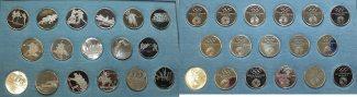 17 x Silbermed. 1972 Deutschland Offiziell...