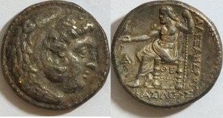 Tetradrachme 336 - 323 v Makedonien Alexan...
