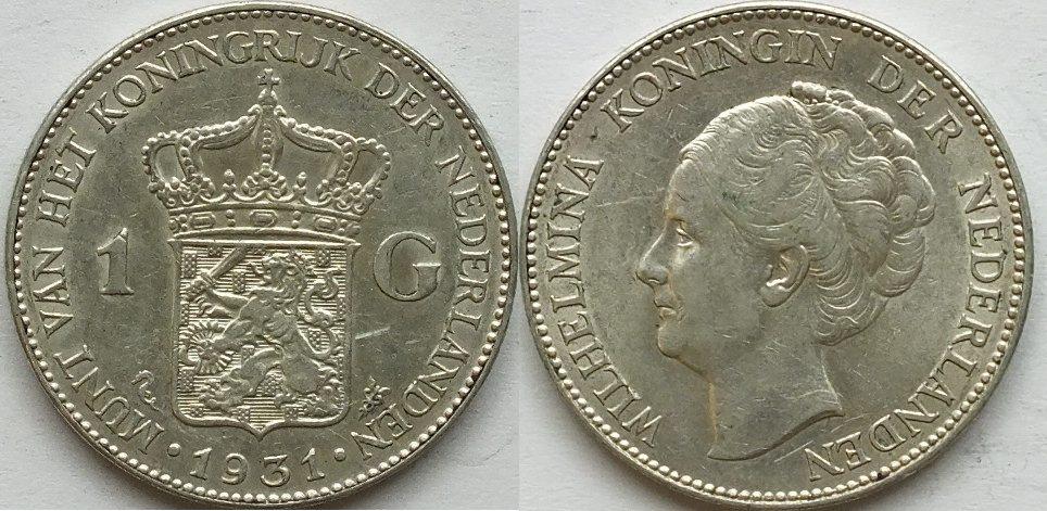 1 gulden 1931 niederlande ss m nzen