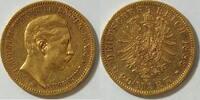 20 Mark 1889 Preussen Wilhelm II ss  355,00 EUR kostenloser Versand