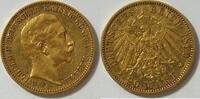 20 Mark 1890 Preussen Wilhelm II ss  355,00 EUR kostenloser Versand