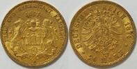20 Mark Gold 1876 Hamburg  ss  355,00 EUR kostenloser Versand