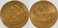 10 $ 1888 S USA  ss  725,00 EUR kostenloser Versand