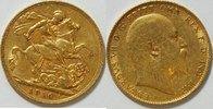 1 Pfund 1910 Großbritannien  ss  375,00 EUR kostenloser Versand