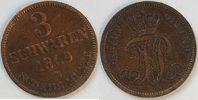 3 Schwaren 1869 B Oldenburg  ss zaponiert  7,00 EUR  zzgl. 2,95 EUR Versand