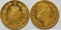 20 Lire Gold 1881 Italien  vz-st  295,00 EUR kostenloser Versand