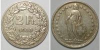 2 Franken 1908 Schweiz  ss  15,00 EUR  zzgl. 4,50 EUR Versand