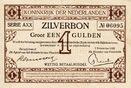 1 Gulden(AV2.2B)(P.10) 1917 Netherlands ZI...