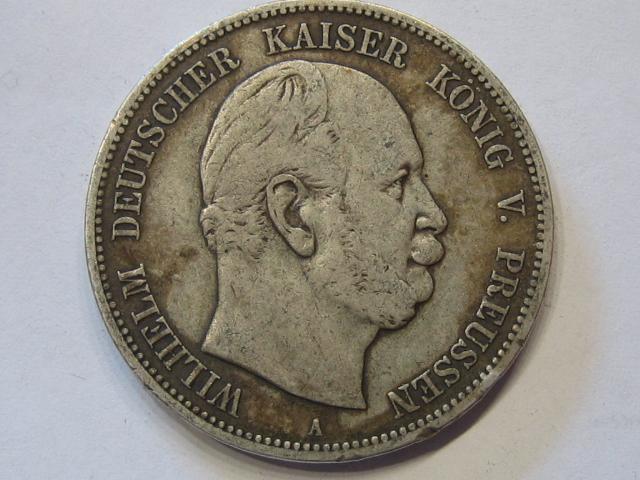 Wilhelm I Preussen 5 Mark 1874 A