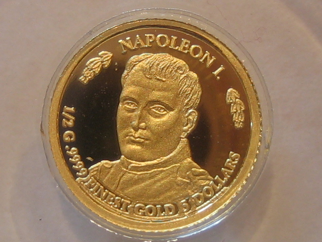Kleinste Goldmünzen Gold Napoleon Nauru 5 Dollars 2011