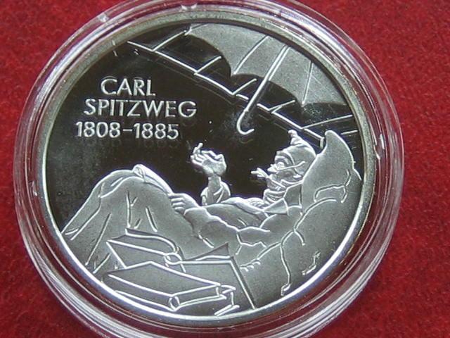10 Euro 2008 BRD BRD 10 Euro 2008 Carl Spitzweg PP Proof Spiegelglanz