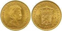 10 Gulden Gold 1917 Niederlande-Königreich Wilhelmina I. 1890-1948. Vor... 265,00 EUR