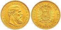 10 Mark Gold 1888  A Preußen Friedrich III. 1888. Kl. Druckstelle, fast... 215,00 EUR