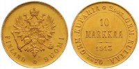 10 Markkaa Gold 1913  S Finnland Nikolaus II. von Russland 1894-1917. V... 425,00 EUR