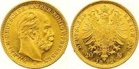 20 Mark Gold 1872  A Preußen Wilhelm I. 1861-1888. Kl. Randfehler, vorz... 425,00 EUR
