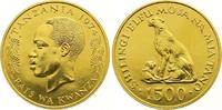 1500 Shilingi Gold 1974 Tanzania  Stempelglanz  1275,00 EUR