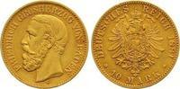 10 Mark Gold 1881  G Baden Friedrich I. 1856-1907. Sehr schön +  245,00 EUR