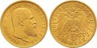 20 Mark Gold 1900  F Württemberg Wilhelm II. 1891-1918. Vorzüglich - St... 475,00 EUR
