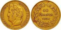 40 Francs Gold 1834  L Frankreich Louis Philippe I. 1830-1848. Sehr sch... 625,00 EUR