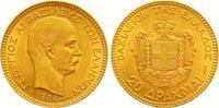20 Drachmen Gold 1884 Griechenland Georg I. 1863-1913. Vorzüglich +  375,00 EUR