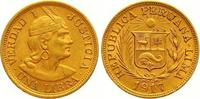 Libra Gold 1917 Peru Republik seit 1821. Vorzüglich  365,00 EUR